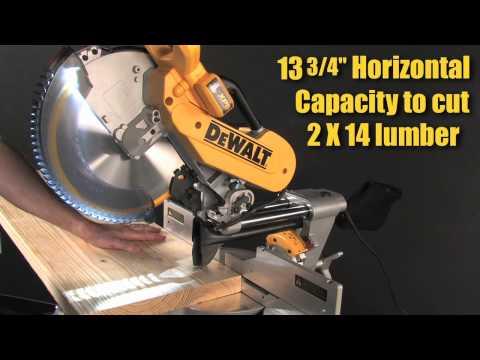 "Capacity - DWS780 12"" Double Bevel Sliding Compound Miter Saw"