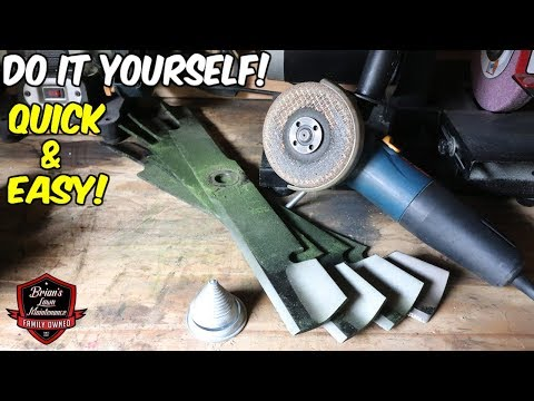 The BEST NEW Tool For Sharpening A Lawn Mower Blade! (Have You Seen This Yet?!)