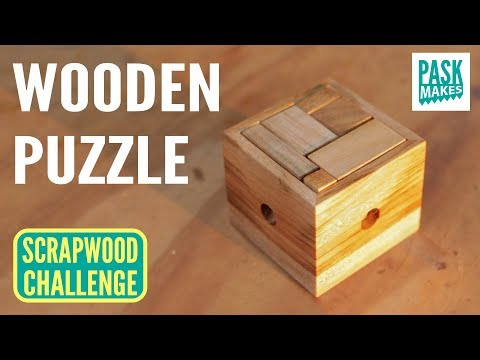 Wooden Puzzle - Easy to Make for a Gift - Scrapwood Challenge Day Four