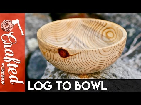 From Firewood Log to Bowl (First Woodturning Project) | Crafted Workshop