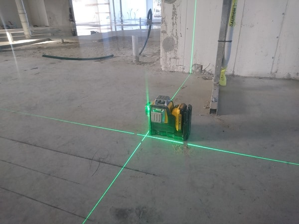 Dewalt laser seting out building