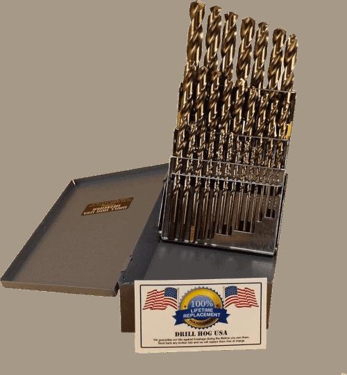 29 Pc Cobalt Drill Bit Set M42 HSS 29pc USA