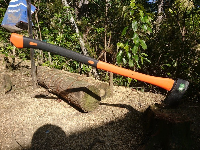 Ax In A Stump Of Wood