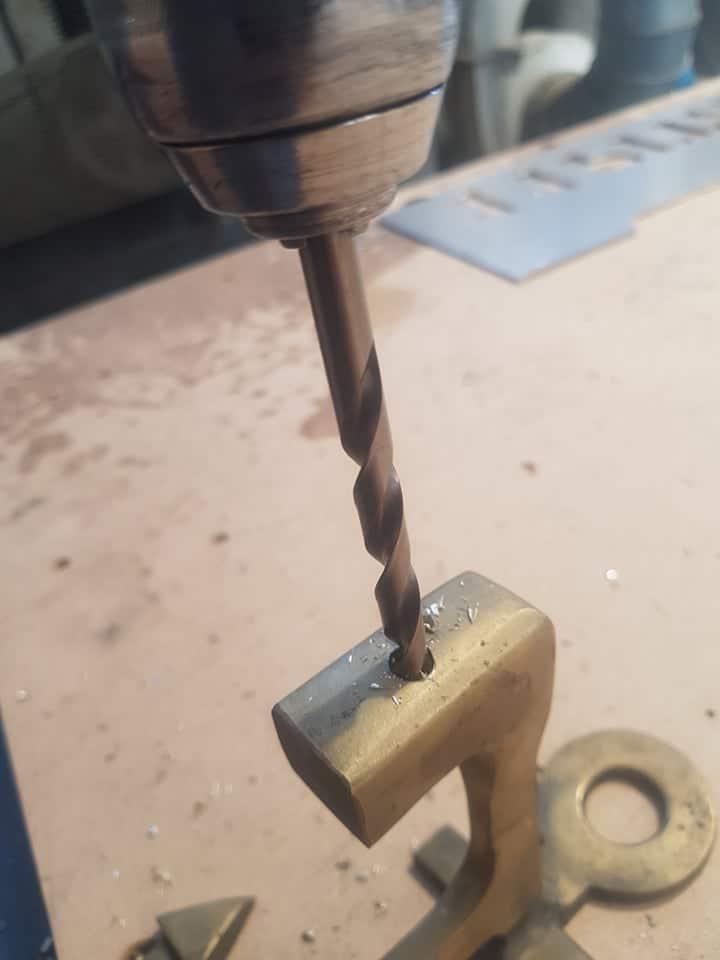 Metal drill bit in cordless drill