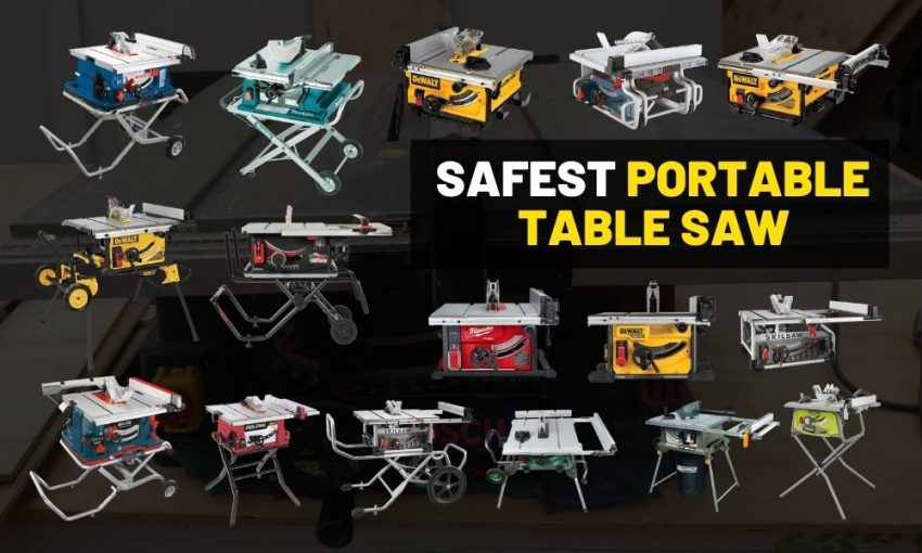 Safest portable table saw review | With an emergency break