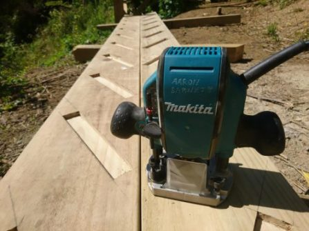 Using My Makita Wood Router,to make a outside external stair case