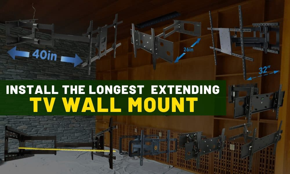 Longest extending TV wall mount | Best quality swing arm