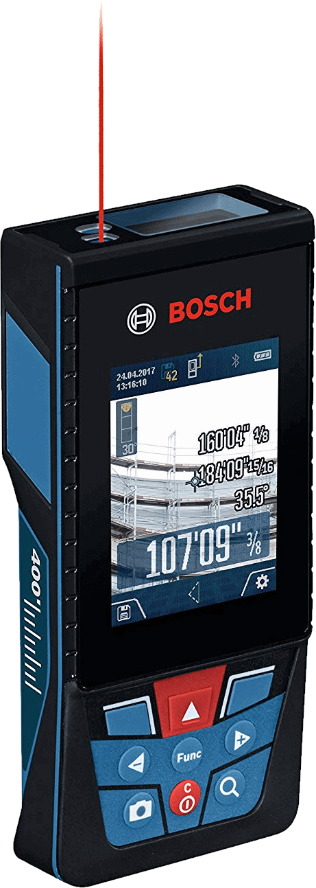 Bosch GLM400CL Laser Measure with Camera, 400-Feet