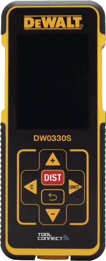 DEWALT DW0330S Laser Measure 330 feet with Bluetooth