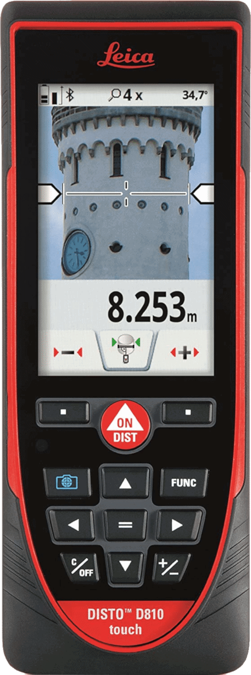 Leica DISTO D810 Laser Distance Measurer With Bluetooth And Camera 660-Feet