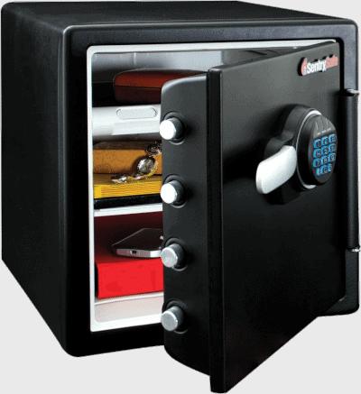 SentrySafe Fireproof AND Waterproof Digital Keypad 1.23 Cube Safe