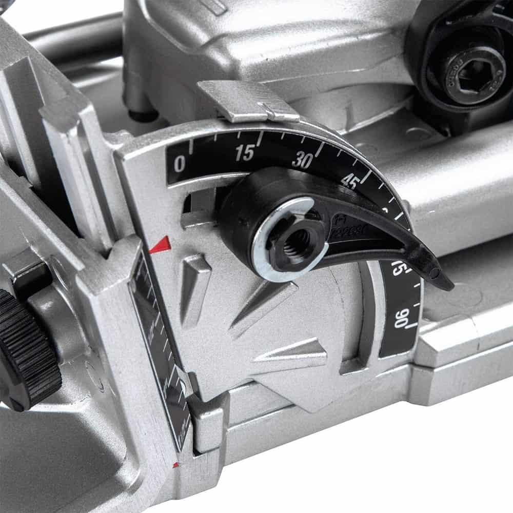 Angle adjustment on makita joiner tool