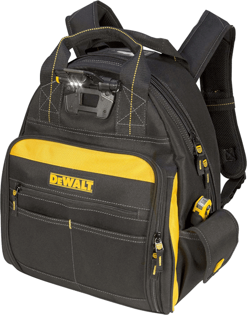 DEWALT DGL523 Lighted Tool Backpack with 57-Pockets