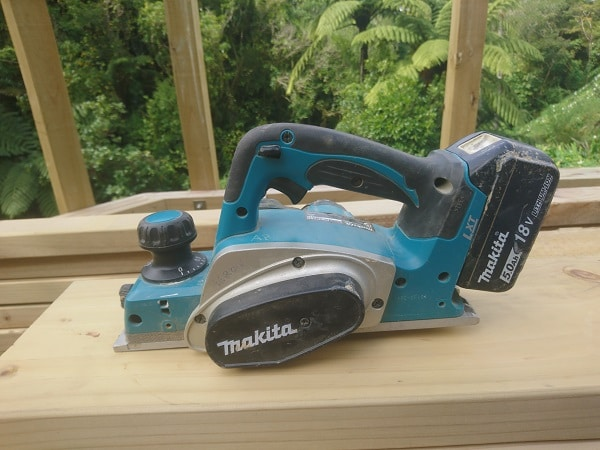 My cordless makita electric planer