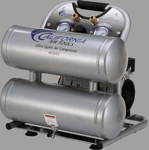 California Air Tools CAT 4610AC Oil Free 1HP Aluminum Twin Tank Quiet 60 Decibels Air Compressor