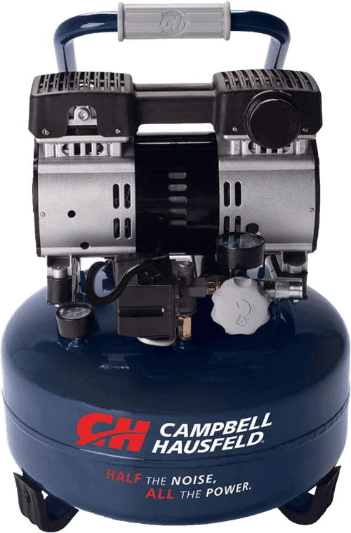 Campbell Hausfeld DC060500 6 Gallon 1HP Quiet 68 Decibel Air Compressor