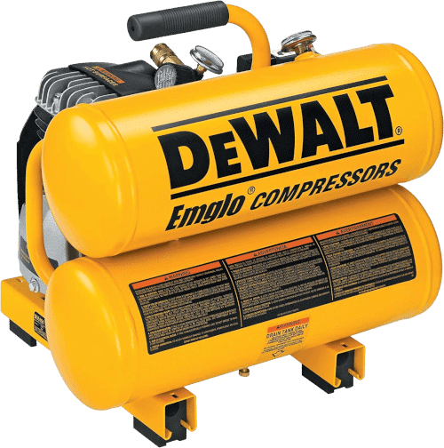 DEWALT D55151 1.1HP 4 Gallon Oiled Twin Air Compressor