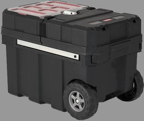 Keter 241008 Masterloader Plastic Portable Rolling Tool Box