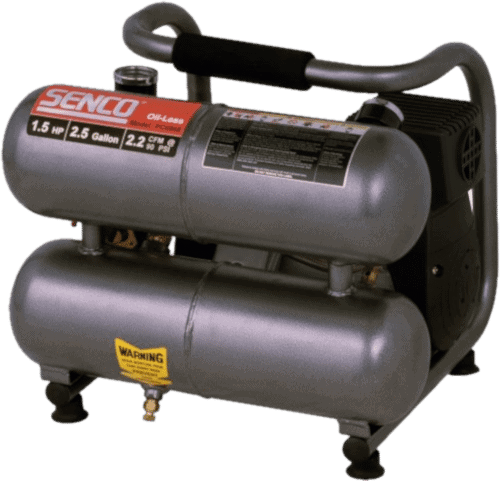 Senco PC0968 Oil-Free 2.5-Gallon 1.5HP Trim Compressor