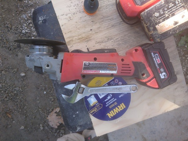 Cordless Angle Grinder No Guard