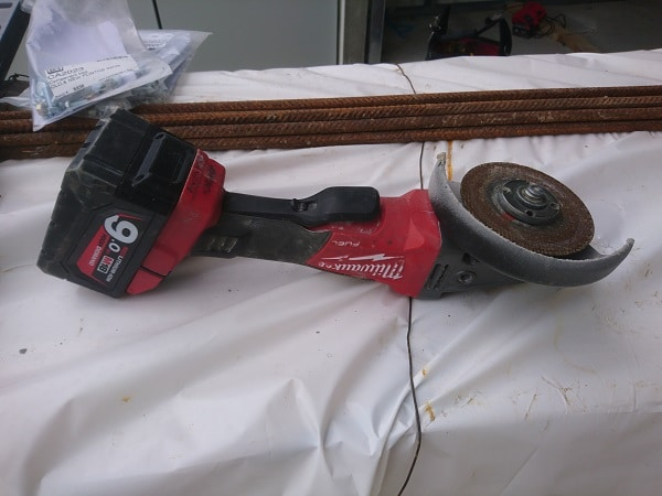 Milwaukee Cordless Angle Grinder Front