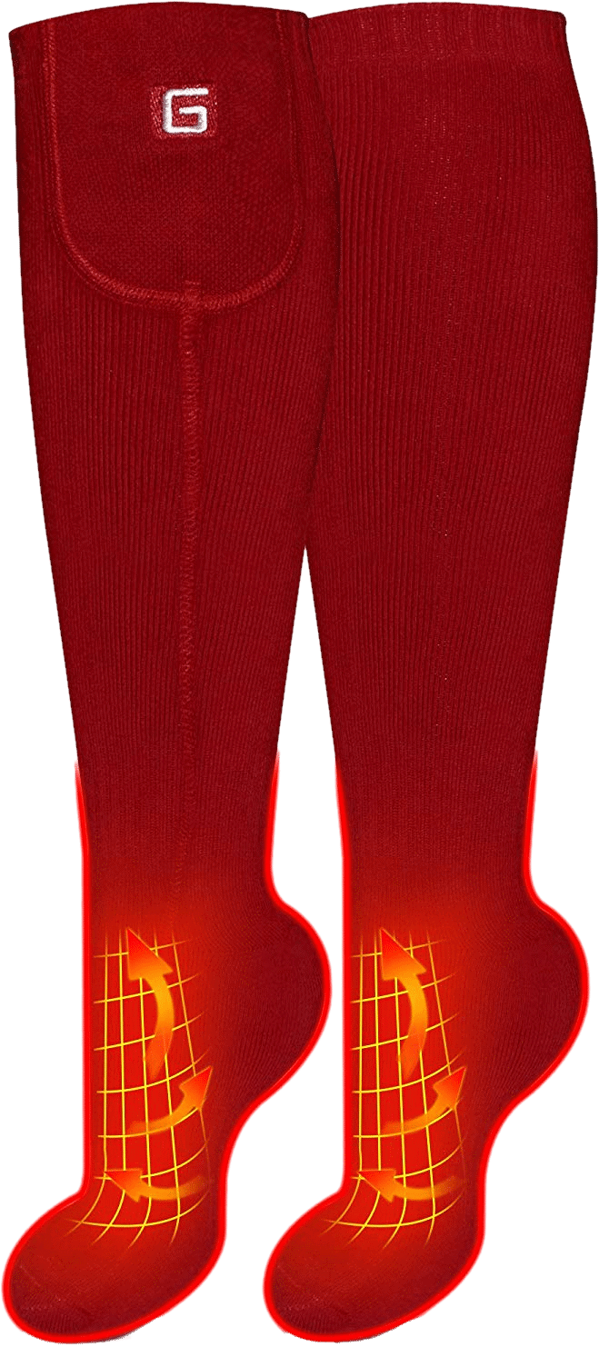 Daintymuse Rechargeable Electric Powered Heated Socks Size 5 9