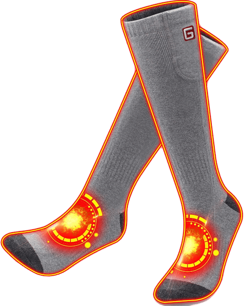 GLOBAL VASION Battery Powered Heated Socks