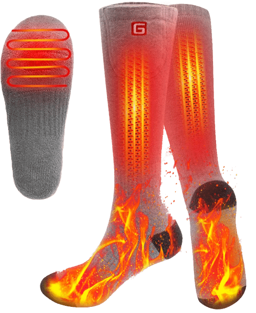 SVPRO Rechargeable Electric Powered Heated Socks
