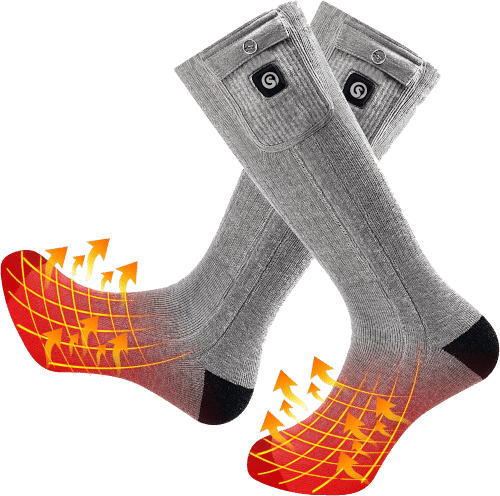 Snow Deer Rechargable Heated Socks With Heat Mesh