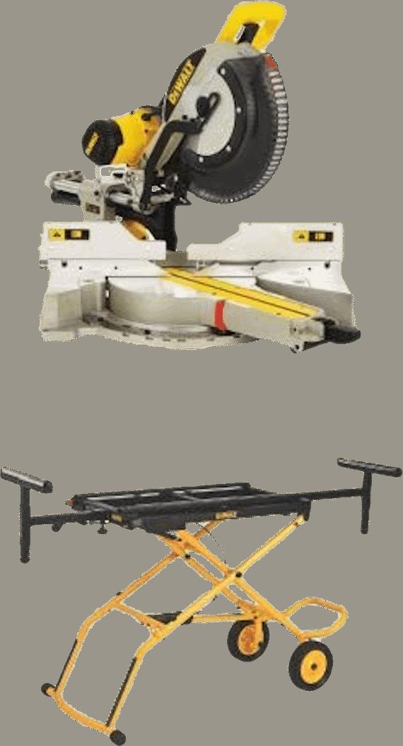 DEWALT DWS780 12 Inch Compound Miter Saw with Rolling Stand