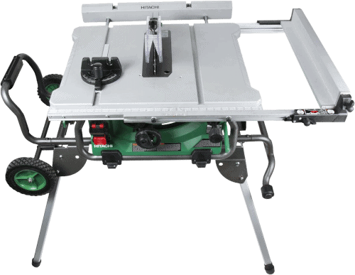 Hitachi C10RJ 10 Inch 15 Amp Table Saw With Rolling Stand