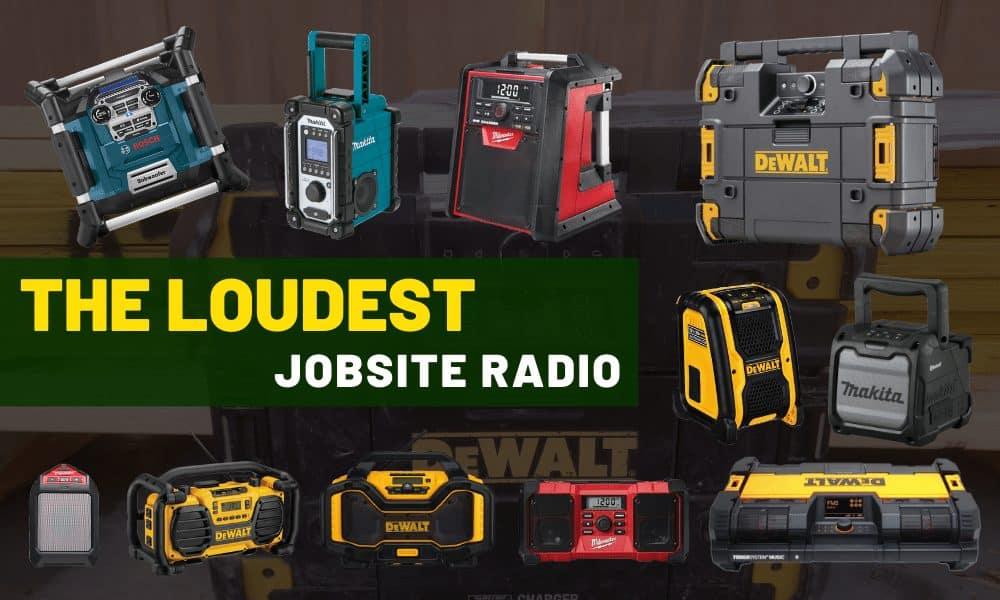 Best jobsite radio [Loudest worksite outdoor bluetooth speaker]