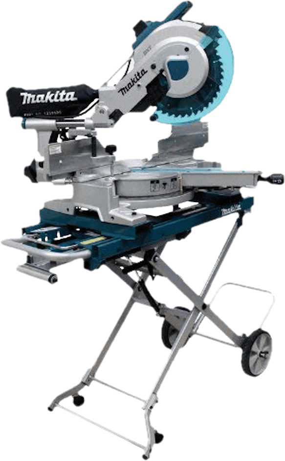 Makita LS1216LX4 12 Inch Compound Miter Saw with Rolling Stand