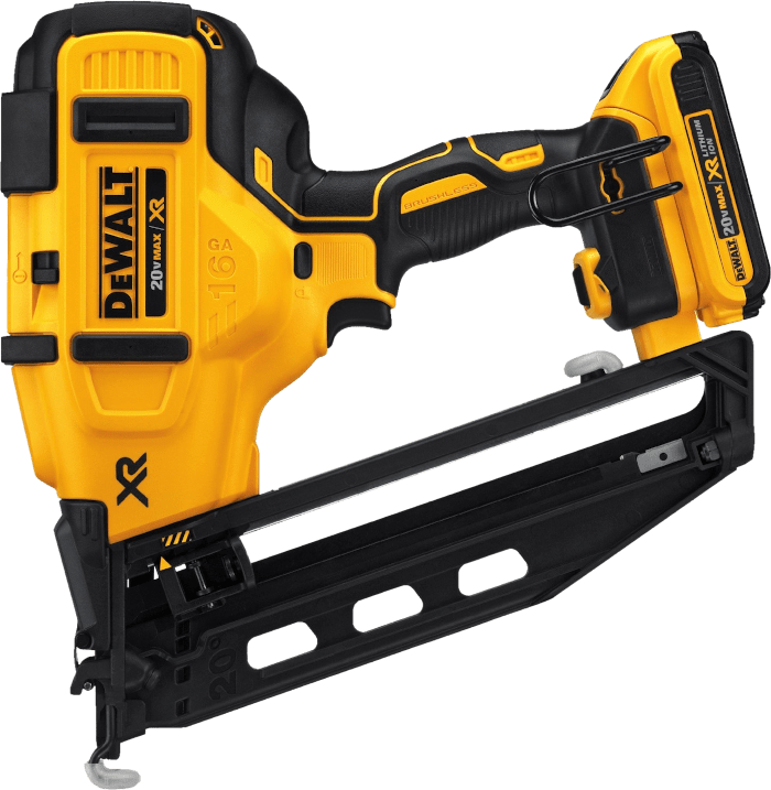 DEWALT DCN660D1 Cordless Angled Finishing Nailer Kit 16 Gauge