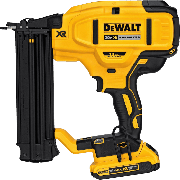 DEWALT DCN680D1 Cordless Straight Brad Nailer Kit 18 Gauge