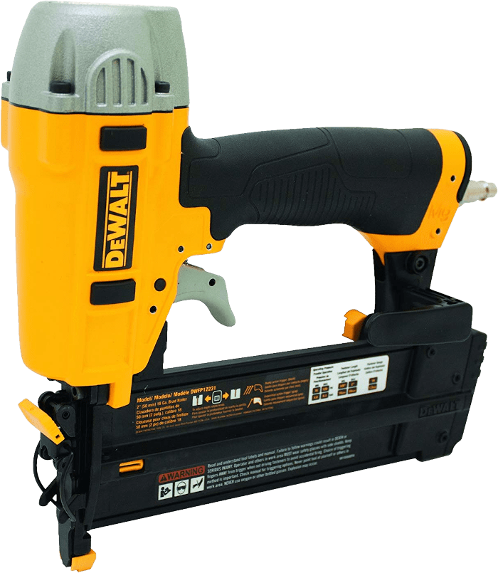 DEWALT DWFP12231 Straight Air Brad Nailer Kit 18 Gauge
