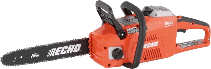 ECHO Cordless 58V Chainsaw 19 66 lbs 16 Inch Bar