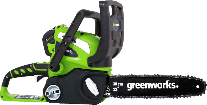 Greenworks 20262 40V Cordless Chainsaw 6 lbs 12 Inch Bar