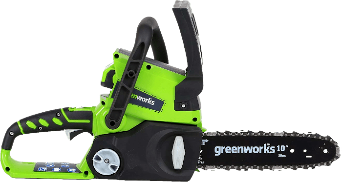 Greenworks 20362 24V Cordless Chainsaw 7 85 lbs 10 Inch Bar