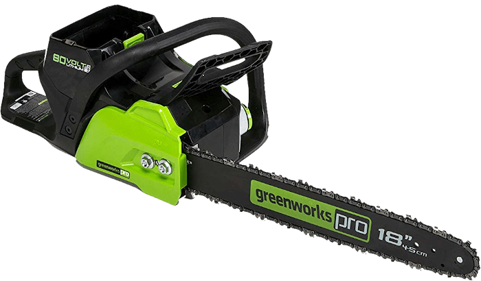 Greenworks CS80L210 PRO 80V Battery Chainsaw 12 5 lbs 18 Inch Bar