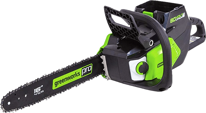Greenworks CS80L211 PRO 80V Battery Chainsaw 12 8 lbs 16 Inch Bar