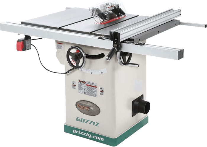 Grizzly G0771Z Industrial Hybrid Table Saw with T Shaped Fence 2 HP