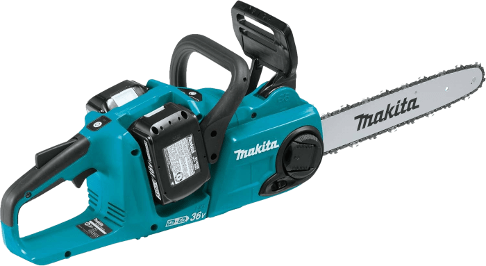 Makita XCU03PT1 36V Brushless Cordless Cordless Chain Saw Kit 11 7 lbs 14 Inch Bar