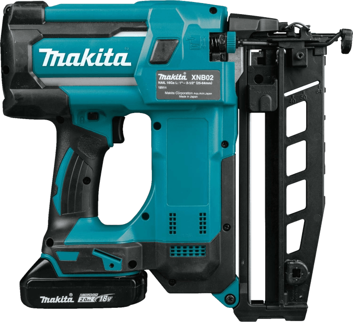Makita XNB02Z 18V Straight Finishing Nailer Kit 16 Gauge