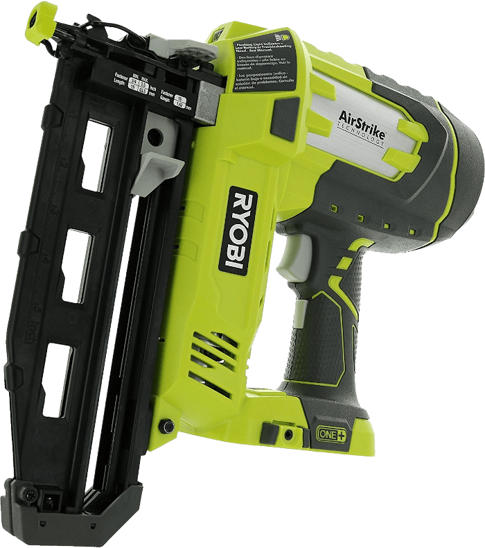 Ryobi P325 Straight Battery Powered Cordless Finishing Nailer 16 Gauge