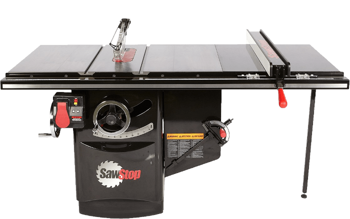 SawStop Industrial Cabinet Saw with 36 Inch Ripping Fence 3HP
