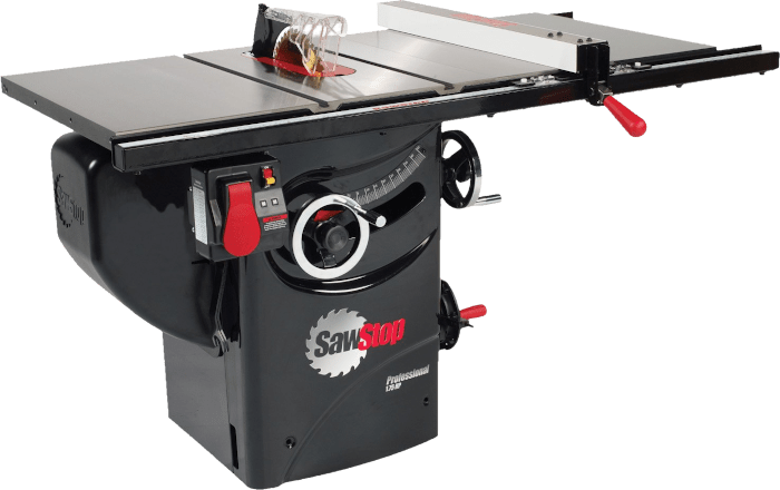 SawStop PCS175 PFA30 Commercial Cabinet Saw With 30 Inch Fence 1 75 HP