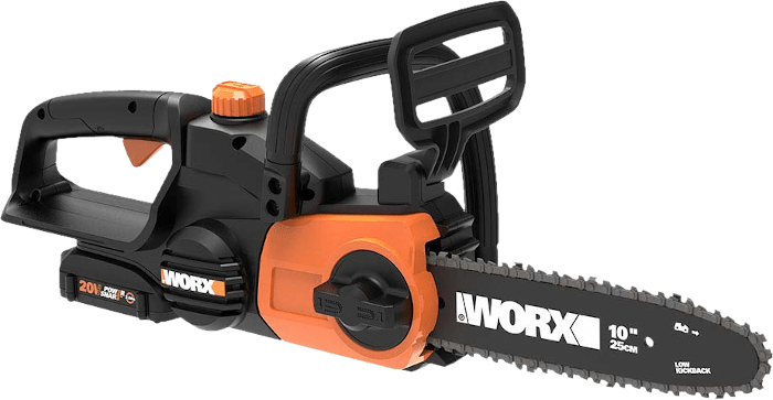Worx WG322 20V Cordless Chainsaw 6 2 lbs 10 Inch Bar