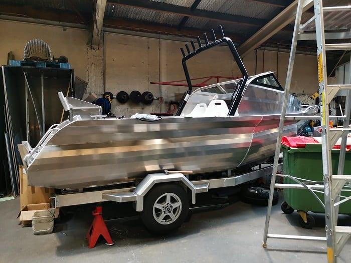 Aluminium Boat In Workshop