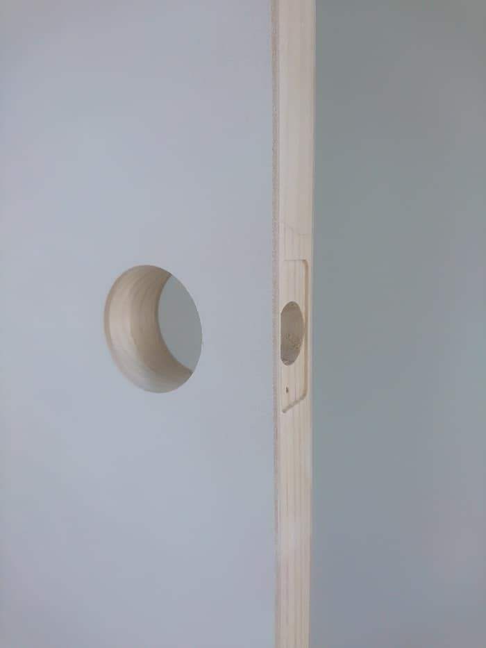 Drilling Door Handle Hole